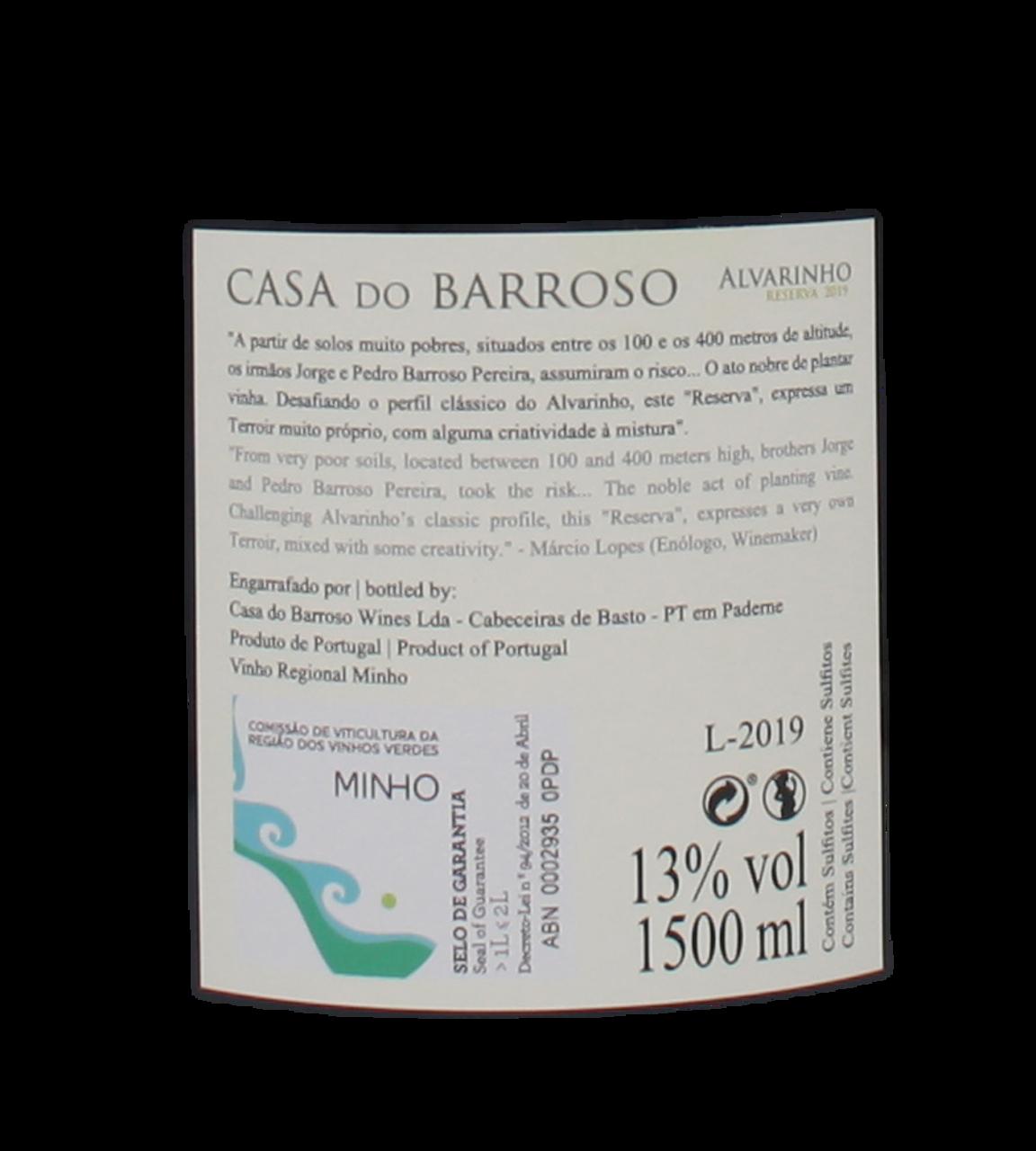 Imagem de Casa do Barroso Alvarinho Branco 2019 MAGNUM